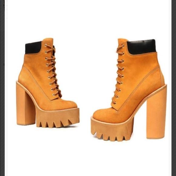 479e001702e9 Jeffrey Campbell Shoes - Jeffrey Campbell Timberland style platform boots